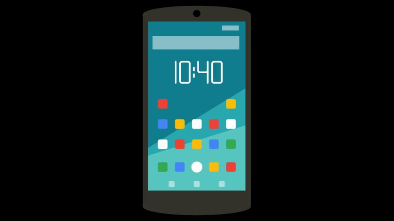 Android vor Weltkarte