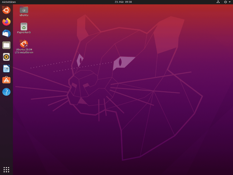 Screenshot Ubuntu 20.04